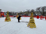 В Уссурийске приступили к демонтажу ледового городка