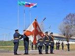 Командующий ВДВ вручил Георгиевское знамя 83-й десантной бригаде
