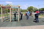 Приемка первых площадок по программе «Спортивный дворик» прошла в селах округа