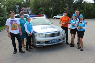 В Уссурийске сотрудники полиции и школьники провели акцию «Ребенок - главный пассажир»