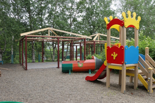 Благоустройство детского сада на слободе завершат до конца месяца
