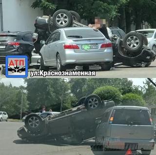 «Да, это была я, до сих пор в шоке»: массовое ДТП с кульбитом джипа произошло в Приморье
